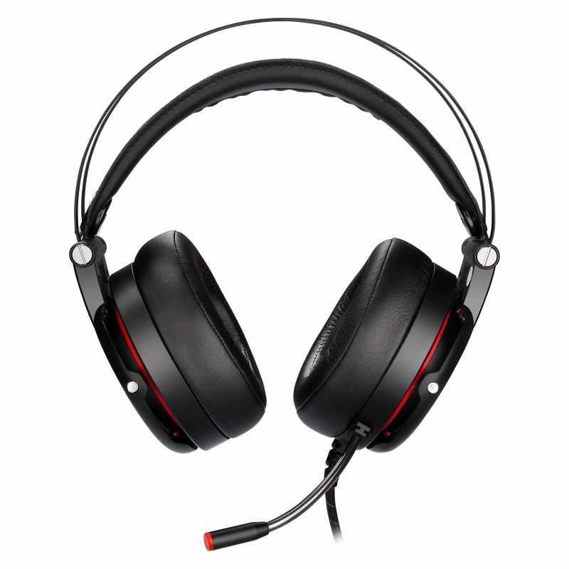 חדש Motospeed H18 משחקי אוזניות 7.1 וירטואלי סראונד USB תקע על אוזן משחקי אוזניות עם מיקרופון V40 עכבר עבור PC PUBG