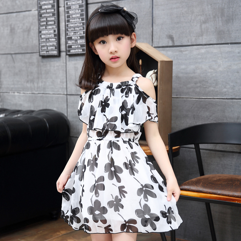 0495f31ee Kids Clothing Beach Dresses for Girls Summer Style Girl Dress Floral ...