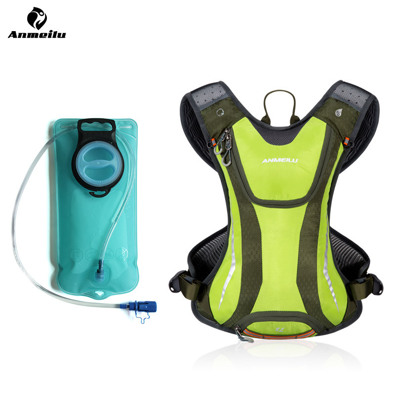 ANMEILU 2L Water Bag Sport Climbing Hiking Running Camping Cycling Backpack Hydration Pack Bicycle Bike Water Bladder Mochila roswheel 22l ultralight cycling mountain bike bag hydration pack water backpack reflective bicycle bike hiking climbing pouch