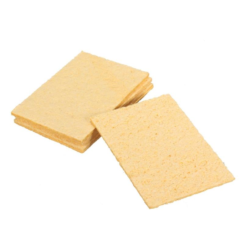 5pcs spugne di ricambio universali per saldatore spugne per saldatura ferro punta detergente giallo spugna per pulizia 5x3,5 cm