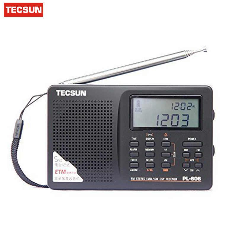NEW Tecsun PL-606 Digital PLL Portable FM Stereo//LW//SW//MW Radio Receiver DSP
