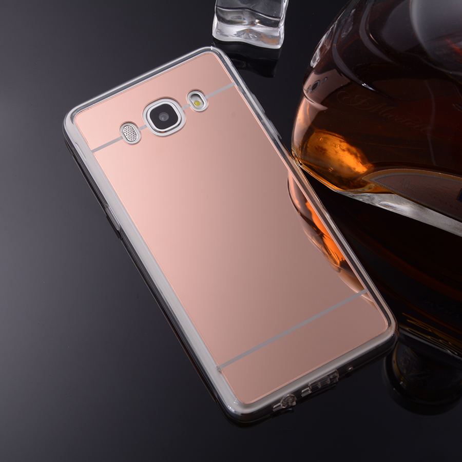 For Samsung Galaxy J1 J3 J5 J7 2016 Mirror Case Soft TPU Back Cover Cases For Galaxy J120 J2 J510F SM-J710F Cell Phone Shell