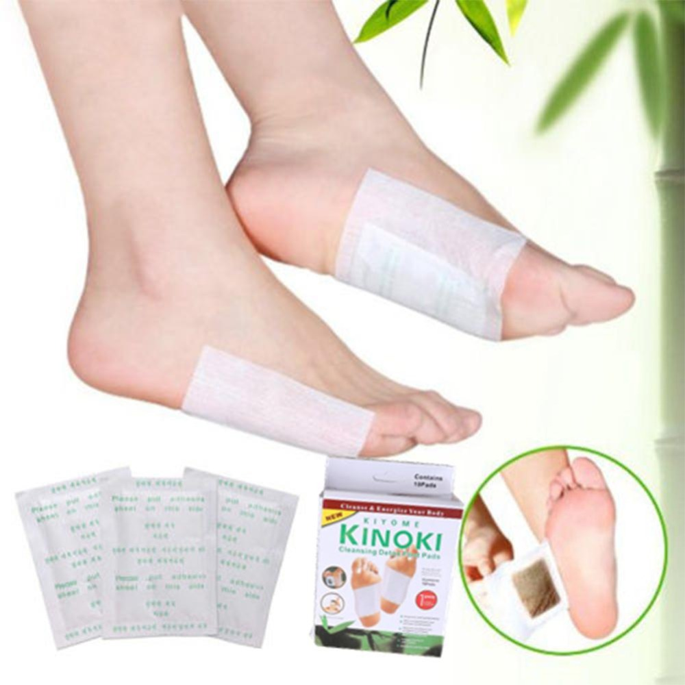 10pcs Natural Wood Vinegar Foot Patch Detox Foot Patches Improve Sleep Remove Harmful Toxins Health Care Foot Sticker Foot Pads