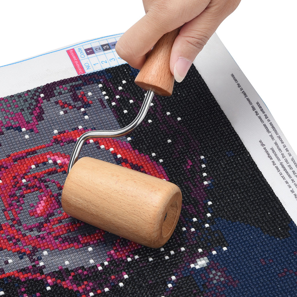 5D DIY Special Shaped Diamond Painting Tool Wooden Roller Diamond Painting Accessories for Full Square Round