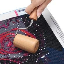 5D DIY алмаз особенной формы Живопись Инструмент Деревянный ролик Diamond аксессуары для рисования для полного квадратные наклеивания плотно