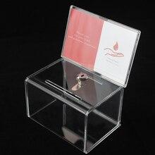 Счетчик акриловая коробка для хранения из прозрачного плексигласа; сбор средств коробка пожертвования с замком для церкви некоммерческой группы благотворительность