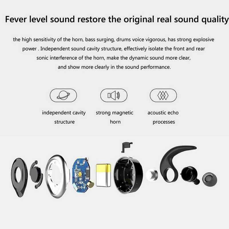fb12b8b8431 ... YISHANGOU TWS K15 Mini Bluetooth V5.0+EDR Earphones Wireless Earbuds  Music Sports Earphone ...