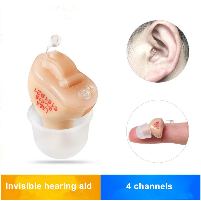 AST 4 canaux aides auditives invisibles numériques amplificateur sonore T23 pour les personnes âgées T23 avec batterie d'aide auditive A10 livraison directe