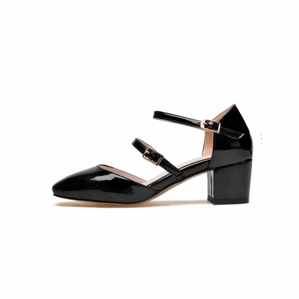 Подробнее о Krazing Pot hot brand shoes patent leather big size square toe preppy style med heels buckle strap women pumps mary janes 0-1 krazing pot new fashion brand gold shoes patent leather square toe preppy style med heels buckle women pumps mary jane shoes 90