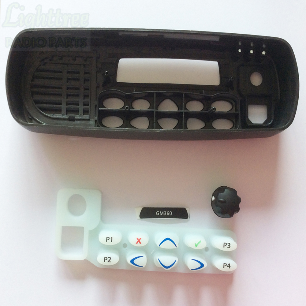 2sets X Top Housing Casing For Motorola GM360 Repair Parts Keypad And Knob Included