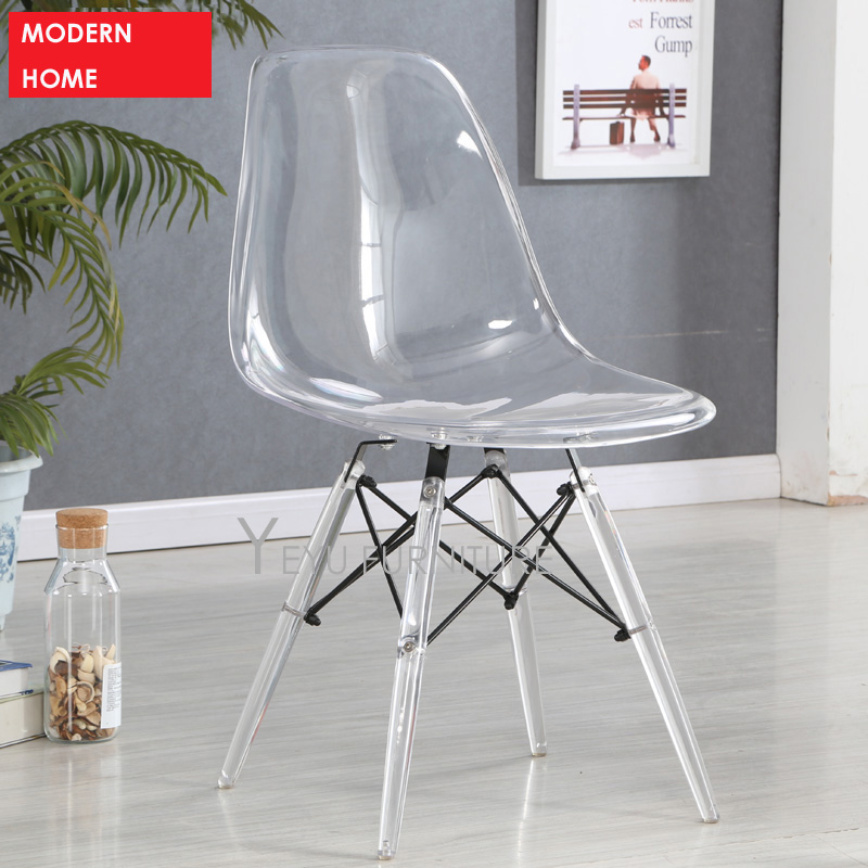 Enjoyable Us 159 0 Minimalist Modern Design Transparent Clear Acrylic Plastic Dining Side Chair Fashion Design Crystal Chair Modern Home Furniture In Dining Spiritservingveterans Wood Chair Design Ideas Spiritservingveteransorg