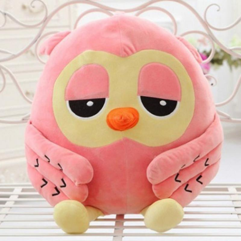 18cm Plush Owl PP Cotton  Filling Material Cute Giant Large Stuffed Soft Plush Toy Doll Pillow Gift Pink Green