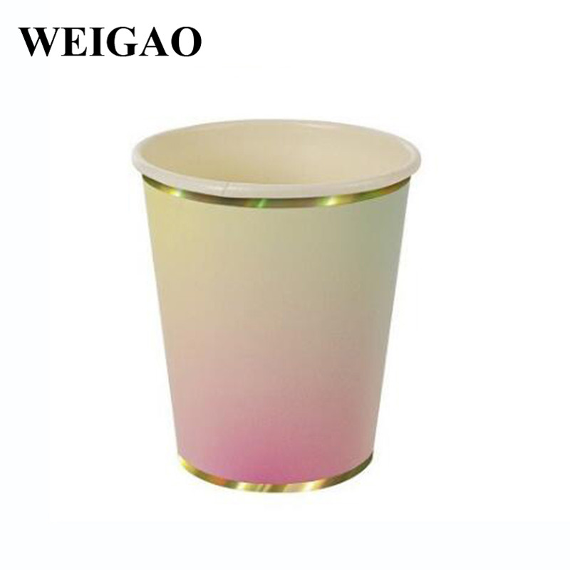 WEIGAO 1 Set Colorful Disposable Tableware Paper Plates Cups Birthday Party Christmas Wedding Party Home Decoration Supplies-in Disposable Party Tableware ...  sc 1 st  AliExpress.com & WEIGAO 1 Set Colorful Disposable Tableware Paper Plates Cups ...