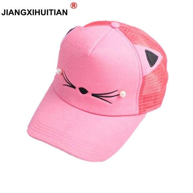 ddd52e08110 Fashion Baby Baseball Cap Unisex Leisure Kids Hats Summer Cap For Boys girls  children Hip Hop Hats Cute Snapback Mesh Cap