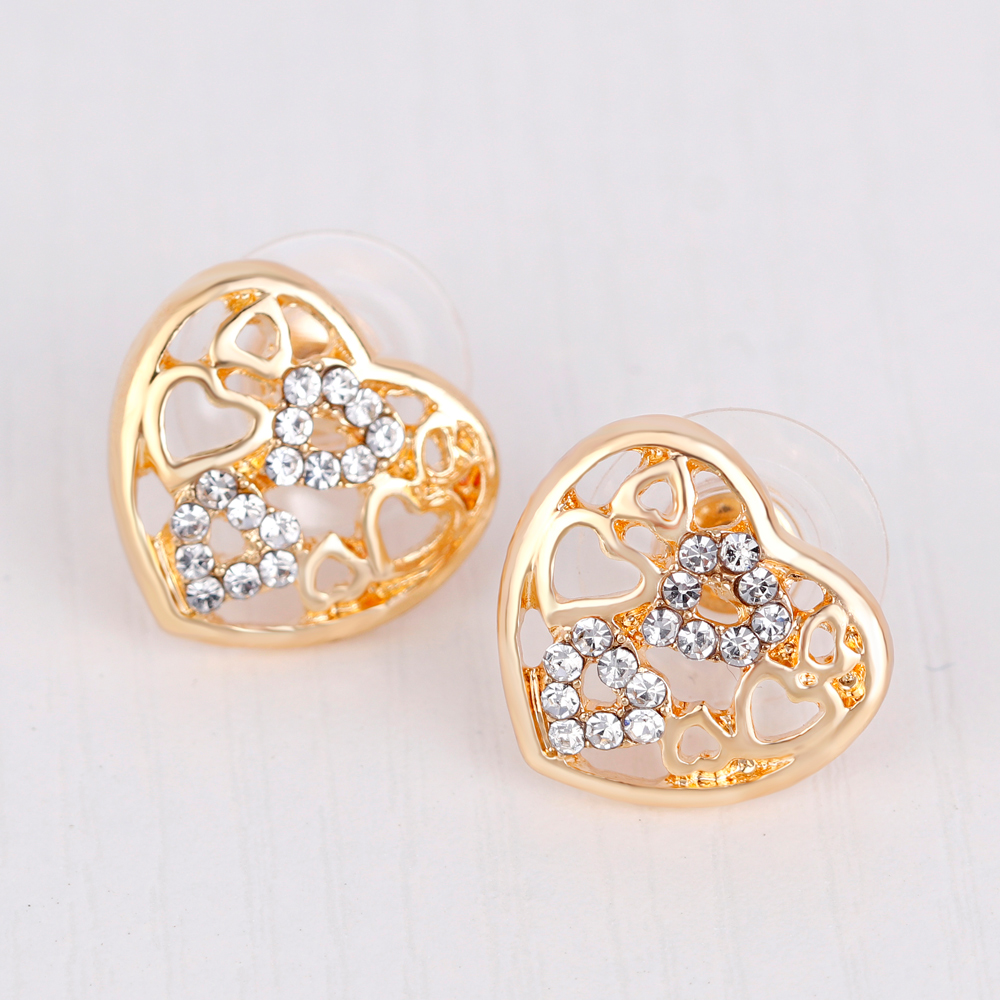 danbihuabi Fashion jewelry African Beads Hollow heart shaped pendant Jewelry Set Women Wedding Necklace Bracelet Earring Ring