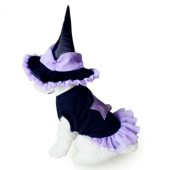 2016 pet dog cat fashion Holloween wizard set doggy funny festival clothing suit puppy winter jackets dogs cats outwear 1pcs