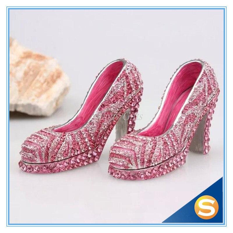 Миниатюрные женские туфли на высоком каблуке со стразами подарочный набор