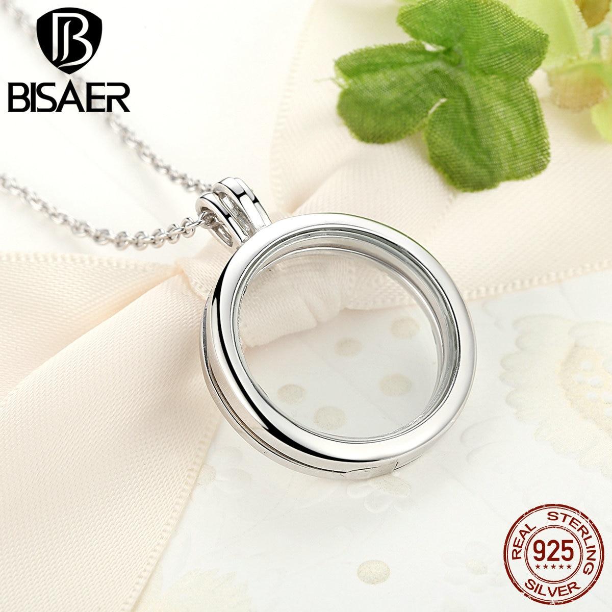 Image 4 - Memory Pendant Necklace Genuine 100% 925 Sterling Silver Medium  Floating Locket Necklaces