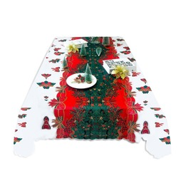 1pc 150*180cm Christmas Tablecloth Christmas Party Decoration Tablecloth Hotel Table Christmas Table Cloth Beatiful Table Decor