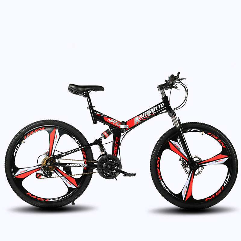 21-speed Folding Mountain Bike 24 And 26 Inch Bicycle Double Disc Brakes Cycling Bicycle Folding Mountain Bike(China)