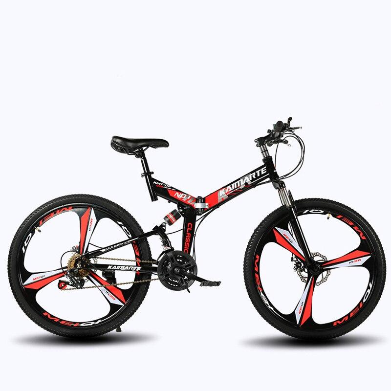 21 vitesses pliant VTT 24 et 26 pouces vélo double disque freins vélo vélo pliant VTT