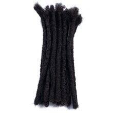 """YONNA Remy человеческие волосы дреды для наращивания Locs ручной работы среднего размера 1/"""" Ширина-Продано 20 локов в пучке"""