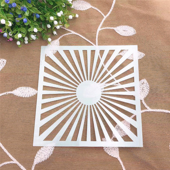 Sunshine scrapbook stencils spray plastic mold shield DIY cake hollow Embellishment printing lace ruler valentine image