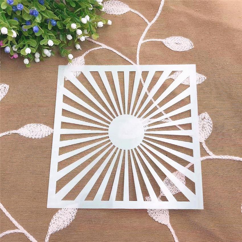 Sunshine Scrapbook Stencils Spray Plastic Mold Shield DIY Cake Hollow Embellishment Printing Lace Ruler Valentine