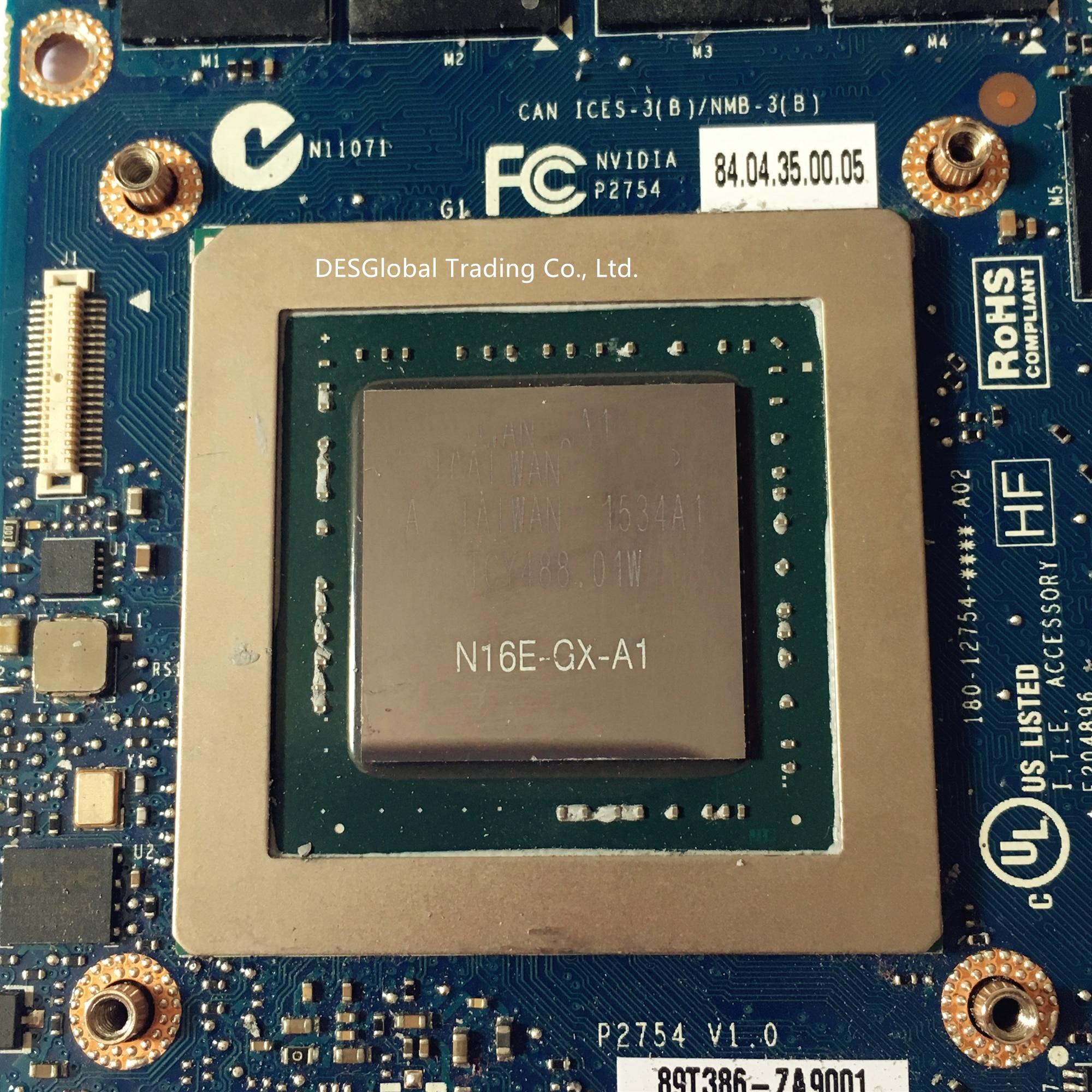 כרטיס גרפי GTX 980M 8G GTX980M כרטיס גרפי עבור Dell M17x R4 R5 M18X R2 R3 עם X-Bracket N16E-GX-A1 8GB GDDR5 MXM 100% עבודה מלא הבדיקה (3)
