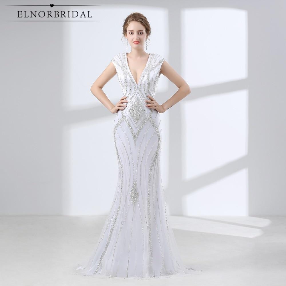 Luxury White Mermaid Prom Dresses Long 2018 Robe De Bal Beaded ...