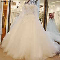 Xj16024 1M Train Real Sample Wedding Dresses Ball Gown Bown Sweetheart Long Tailing Lace Wedding Dress