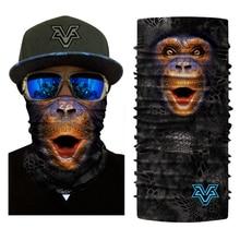 Bjmoto Для мужчин Для женщин спортивный мотоцикл Уход за кожей лица Маски для век Велосипедный Спорт Балаклава Шарф головной убор открытый обезьяны Тигр собака животного Уход за кожей лица маска