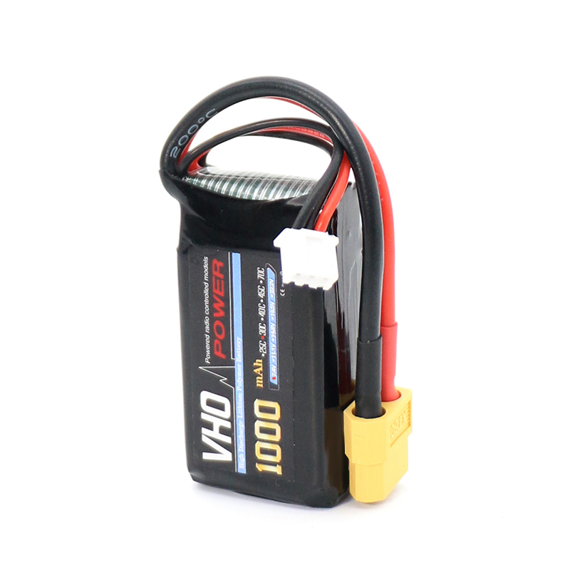 VHO 1pcs Lipo Battery 7.4V 1000mAh 30C 2S XT60/XT30/TX Plug For RC Drone Models Helicopters Airplanes Cars Boat Batteria xxl rc lipo battery 2200mah 11 1v 3s 30c for trx 450 rc fixed wing helicopters airplanes cars