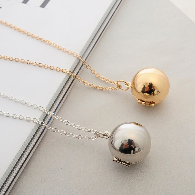 Bright 2016 Fashion Custom Handmade Secret Message Ball Locket Necklace Best Friend Women Men Holiday Gifts Suitable For Men And Women Of All Ages In All Seasons