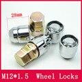 4 NOZES + 2 TECLAS de BLOQUEIO LUG NUTS M12x1.5 FECHADO ACORN/BLOQUEIOS DE RODA Anti roubo Porca Chave De Segurança Para as RODAS/JANTES
