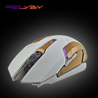FELYBY Wireless Gaming Mouse Mechanical Macro Definition 2000DPI Gaming Mouse Wireless Computer Ergonomic Mouse
