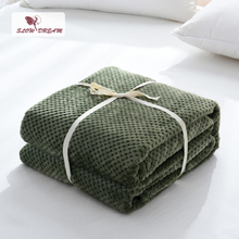 Slowdream Modern Green Flannel Pineapple Blanket Aircraft Sofa Office Adult Use Car Travel Cover Throw For Couch