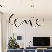 NEO Gleam Coffee Finish Modern led pendant lights for living room dining Kitchen room acrylic aluminum body Pendant Lamp fixture недорого