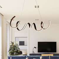 NEO Gleam Coffee Finish Modern led pendant lights for living room dining Kitchen room acrylic aluminum body Pendant Lamp fixture