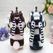 Ropa para perros pequeños, abrigo cálido de algodón con orejas grandes, traje, chaqueta bonita, suministros para mascotas, Otoño e Invierno