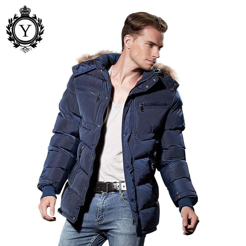 COUTUDI Snygga Vinterjacka Män 2018 Hot Sale Populär Mörkblå - Herrkläder - Foto 5