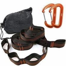 סופר חזק ערסל רצועת תליית חגורת ערסל Hamaca Hamak עבור קמפינג, נסיעה, נייד תליית עץ חבל משלוח חינם
