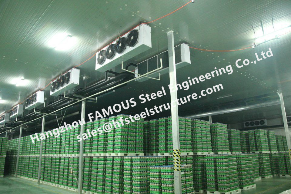 Freezer Room And Fresh Cold Storage Rooms With Good Heat Insulation Assembled By Polyurethane(PU) Sandwich Panels