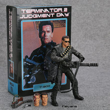 "NECA Terminator 2: Judgment Day T-800 Arnold Schwarzenegger PVC Action Figure Collectible Modelo Toy 7 ""18 cm MVFG365(China)"