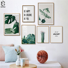 Tropical Monstera Leaf Plant Nordic Posters And Prints Wall Art Canvas Painting Scandinavian Pictures For Living Room Decor