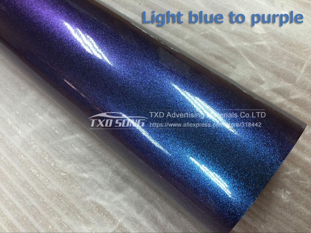 30 х 152 см/лот Премиум Хамелеон Блестящий жемчужная виниловая пленка хамелеон Алмазный блестящая пленка с без пузырьков воздуха 4 цвета на выбор - Название цвета: light blue to purple