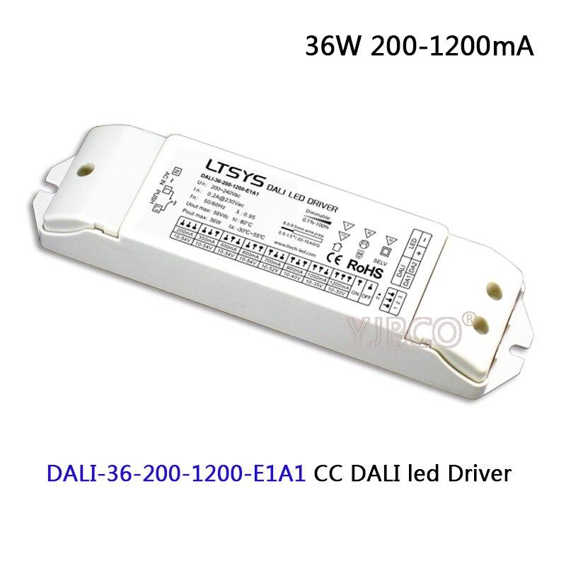 цены на LTECH CC led Dimming Driver;DALI-36-200-1200-E1A1;AC200-240V input; 36W 200-1200mA DALI (IEC62386),Push DIM CC led Driver power в интернет-магазинах