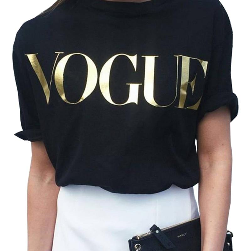 T shirt women tshirt 2019 new vintage vogue letter print women short sleeve summer style T-shirt female vestidos ropa mujer T012