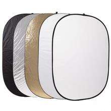 Accesorios fotográficos Godox 5 en 1 tablón plegable 60 * 90 cm Photography luz difusor redondo Reflector disco