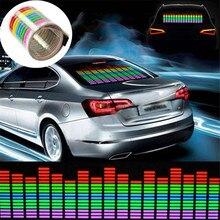 Автомобиль-Стайлинг 45×11 см автомобиля Стикеры Музыка Ритм светодиодная вспышка свет лампы Звук активации эквалайзер 12 В